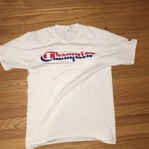 Champion White T Shirt